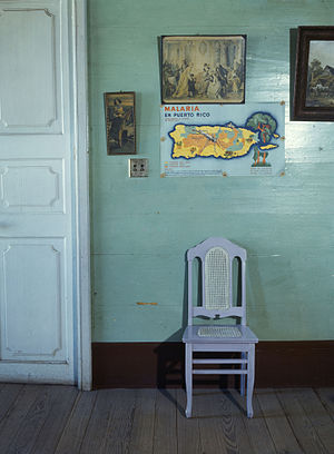 Jack Delano - Malaria poster in small hotel, San Juan, Puerto Rico. Jack Delano, December, 1941.