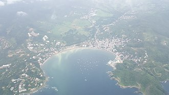 San Juan del Sur - Image: San Juan del Sur, Nicaragua. View from SANSA Flight (Liberia Costa Esmeralda)