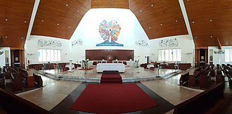 Sacred Heart Cathedral, Kota Kinabalu - Panorama of the Sanctuary