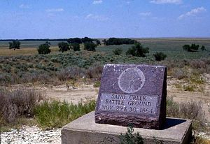 Sand Creek Massacre National Historic Site - The site, July 1985