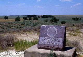 Sand Creek Massacre National Historic Site place in Colorado listed on National Register of Historic Places