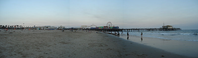 Looking South Toward The Santa Monica Pier At Dusk 2007