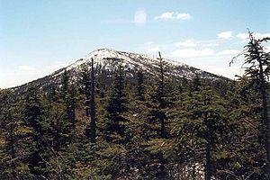 Santanoni Peak - Santanoni seen from ridge between Santanoni and Times Square