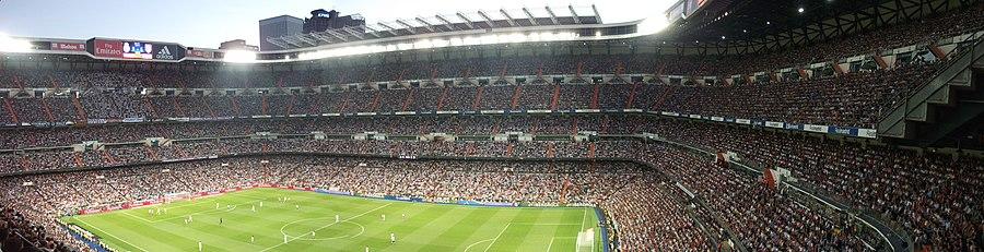 Panorámica del Estadio Santiago Bernabéu. 2ce02b8270255