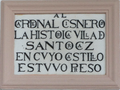 Santorcaz (Madrid) Iglesia de San Torcuato, lápida (RPS 26-07-2013).png