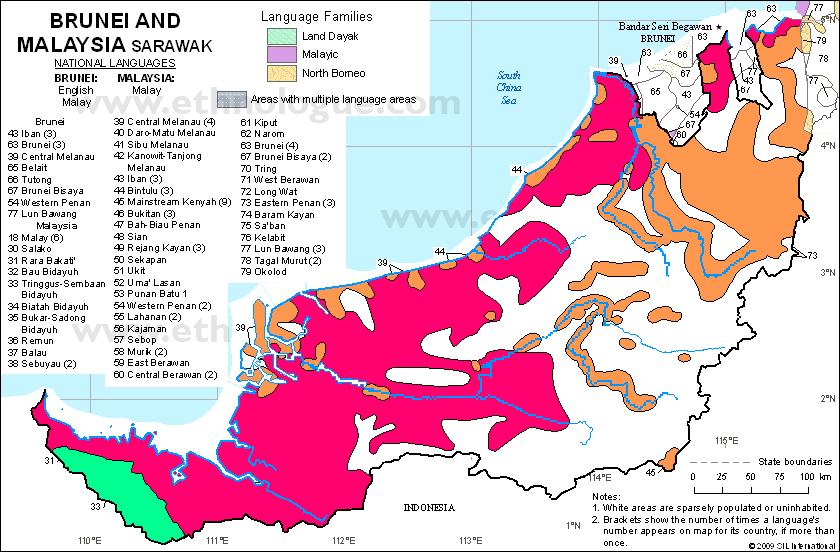 Sarawak Families Languages