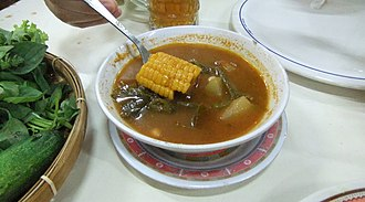 Asian soups - A bowl of sayur asem with tamarind-based soup