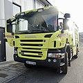 Scania Rescue Fire truck P380 Crewcab Rosenbauer Egenes brannteknikk Yellow Gul brannbil Porsgrunn kommune brannvesen feiervesen 2020-01-23 DSC02566.jpg