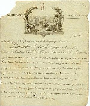 Louis-René Levassor de Latouche Tréville - Letter by Latouche-Tréville