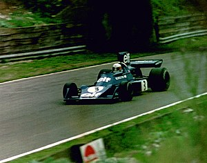 1974 British Grand Prix - Jody Scheckter won the race for Tyrrell.