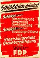 Schlußstrich drunter - FDP election campaign poster, Germany 1949.jpg