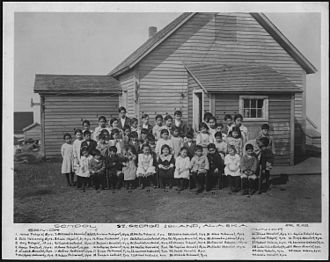 St. George, Alaska - School children on St. George (15.April.1920)