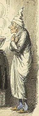 Scrooges third visitor-John Leech 1843-detail
