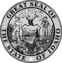 Seal of Idaho black and white.png