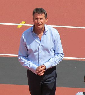 Sebastian Coe - Sebastian Coe at the London Anniversary Games, July 2013