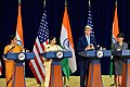 Secretaries Kerry and Pritzker, and Indian Ministers Swaraj and Sitharaman Address Reporters at the U.S.-India Strategic and Commercial Dialogue Joint Press Conference (21619961412).jpg
