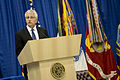 Secretary of Defense Chuck Hagel delivers remarks during the U.S. Strategic Command (USSTRATCOM) change of command ceremony Nov. 15, 2013, at Offutt Air Force Base, Neb 131115-D-BW835-193.jpg