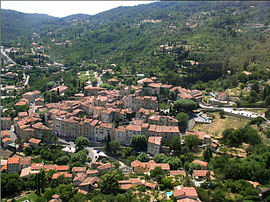 An overhead view of Seillans