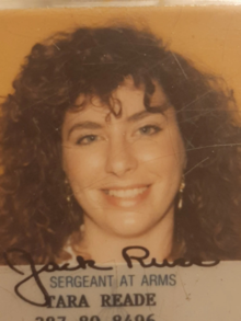 Portrait of Tara Reade on her U.S. Senate ID (provided by her to New York Times)