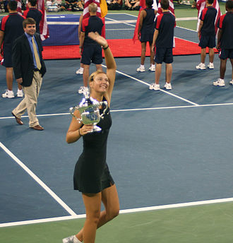 2006 US Open (tennis) - Women's singles champion Maria Sharapova. This was her second Major title.