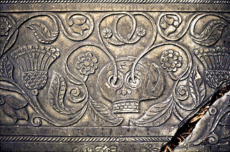 Green Man - Grave slab in Shebbear churchyard