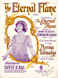 Sheet music cover - THE ETERNAL FLAME - BALLAD (1922).jpg