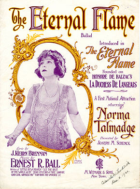 Description de l'image Sheet music cover - THE ETERNAL FLAME - BALLAD (1922).jpg.