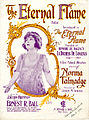 Sheet music cover - THE ETERNAL FLAME - BALLAD (1922).jpg