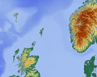 Scottish–Norwegian War - Map of North Sea showing relative location of  Scotland and Norway, in relation to Shetland, Orkney and Hebrides islands