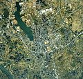 Shimotsuma city center area Aerial photograph.1990.jpg