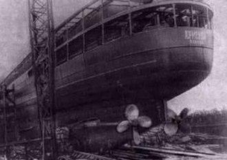 Soviet hospital ship Armenia - Armenia under construction, Leningrad, 1928