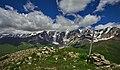 Shkhara Mountain, view from Chubedishi Mountain.jpg