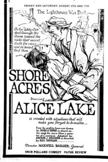 <i>Shore Acres</i> (film) 1920 film by Rex Ingram