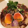 Short Rib - Kohuko heirloom rice, braised short ribs, lacto-fermented mustard greens, pickled egg. -porridge (16930563679).jpg