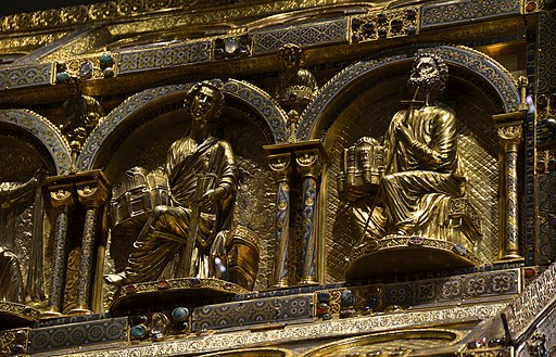 Dreikönigenschrein. (Detail) im Kölner Dom. Shrine of the Three Magi Cologne 29122014 03