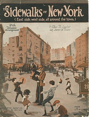 The Sidewalks of New York - Sheet music cover from 1914