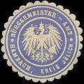 Siegelmarke Bürgermeister-Amt Hambach Kreis Jülich W0383055.jpg
