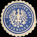 Siegelmarke Bürgermeister - Amt - Dormagen W0220773.jpg