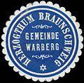 Siegelmarke Gemeinde Warberg H. Braunschweig W0387833.jpg