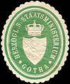 Siegelmarke H. S. Staatsministerium - Gotha W0212512.jpg