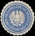 Siegelmarke K.Pr. Landrath des Kreises Lübbecke W0387611.jpg