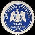 Siegelmarke K. Pr. Ostpreussisches Train-Bataillon No. 1 W0285543.jpg