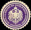 Siegelmarke Kaiserliche General Direction der Eisenbahn in Elsass - Lothringen - Strassburg W0211011.jpg