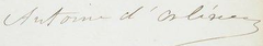 Signature of Prince Antoine, Duke of Montpensier, Duke of Galliera, Infante of Spain.png