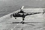 Sikorsky HO3S-1 of HU-1 landing aboard USS Essex (CVA-9), circa 1952.jpg