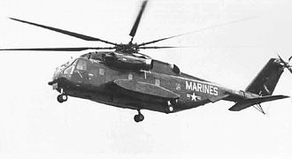 Sikorsky CH-53E Super Stallion - The YCH-53E on its first flight, 1 March 1974