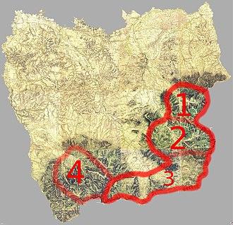Silesian Gorals - Silesian Gorals within Cieszyn Silesia: Brenna (1), Wisła (2), Jablunkov (3), Morávka (4)