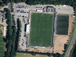 Ten Acres - The stadium from the air prior to the 2014 redevelopment