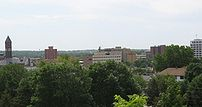 Downtown Sioux Falls, looking southeast from t...