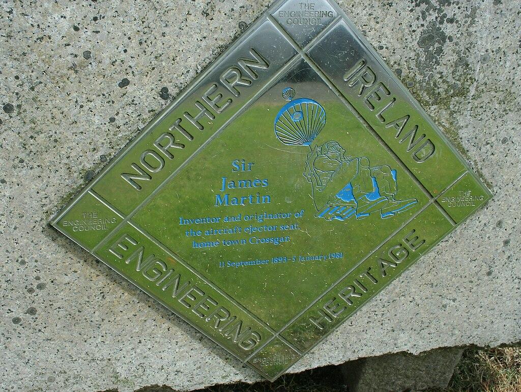 Sir James Martin plaque Crossgar